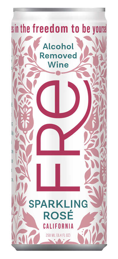 FRE 250mL Sparkling Rosé can